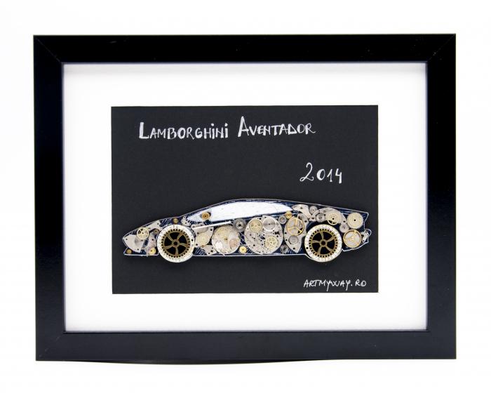 Tablou Lamborghini Aventador 2014  Colectia ART my Cars 0