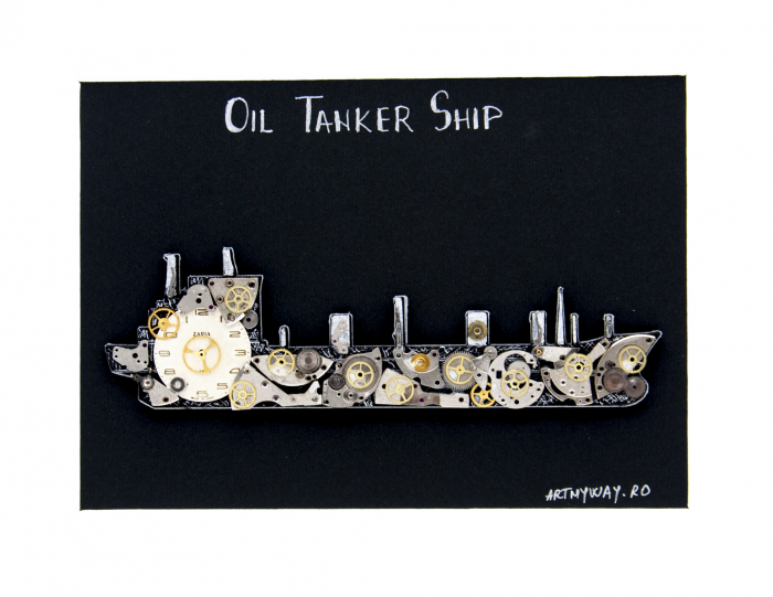 Tablou Tanc Petrolier  - Colectia SteamWall 1