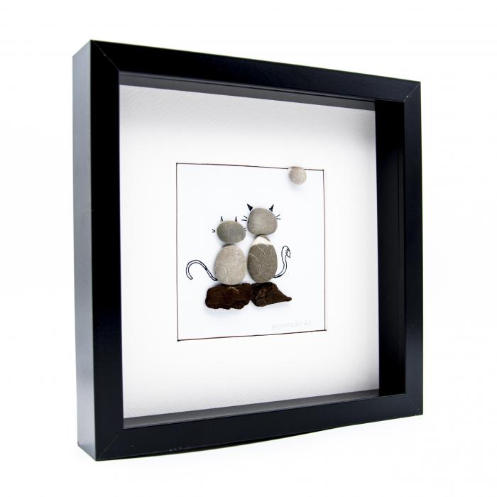 Tablou ZEN Cats - Colectia Pebble Art 1
