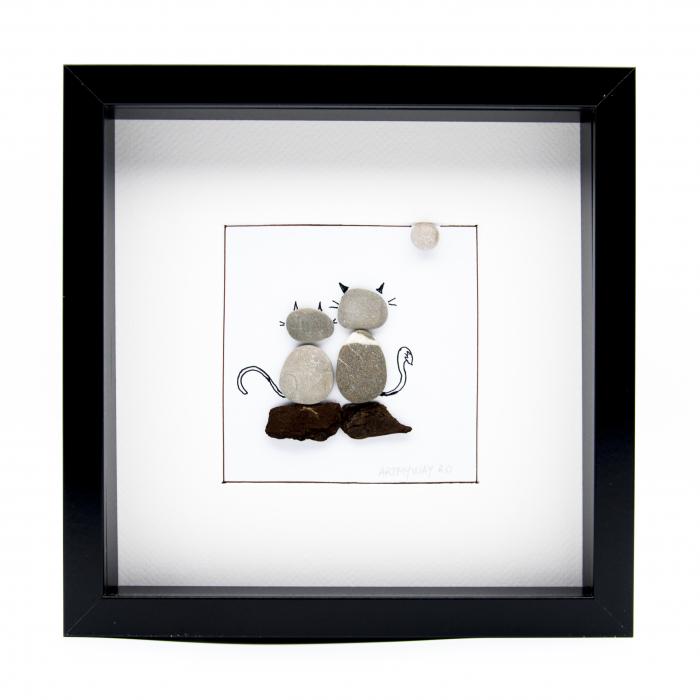 Tablou ZEN Cats - Colectia Pebble Art 0