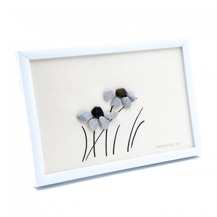 Tablou Windy Days - Roz - Colectia Pebble Art 1