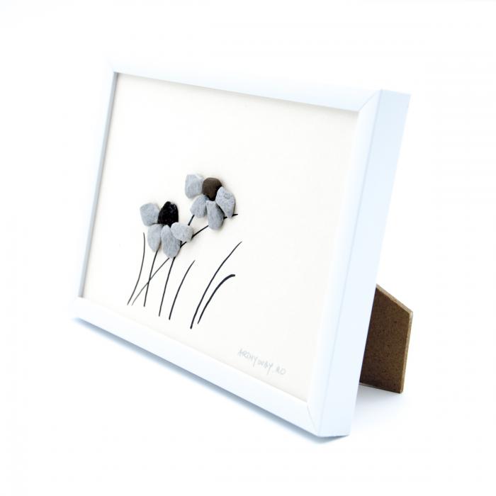 Tablou Windy Days - Roz - Colectia Pebble Art 2