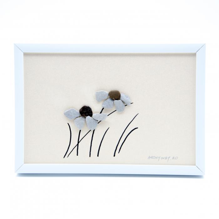 Tablou Windy Days - Roz - Colectia Pebble Art 0