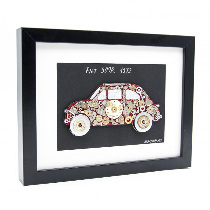 Tablou Fiat 500 1972-Colectia ART my Cars 3