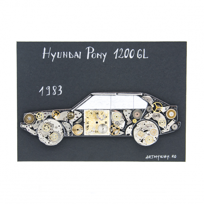 Tablou Hyundai Pony 1200GL 1983 1