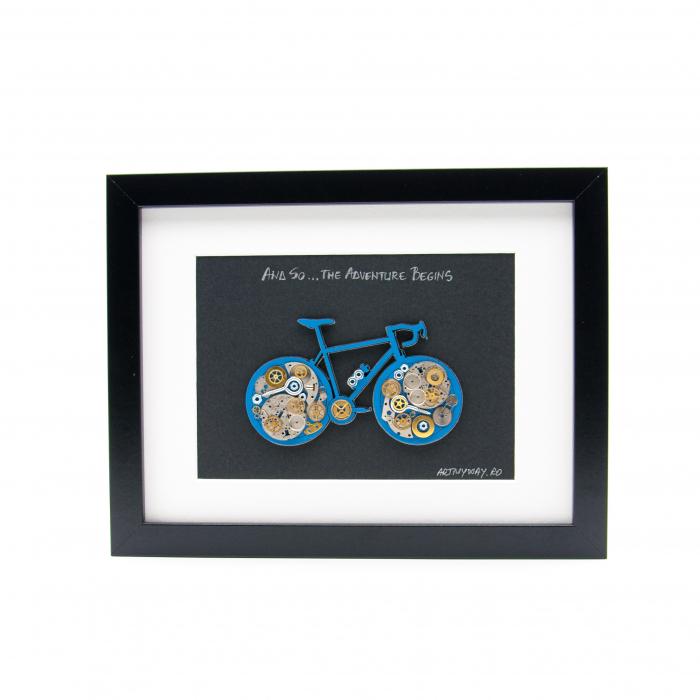 Tablou Bicicleta Albastra  - Colectia SteamWall 0