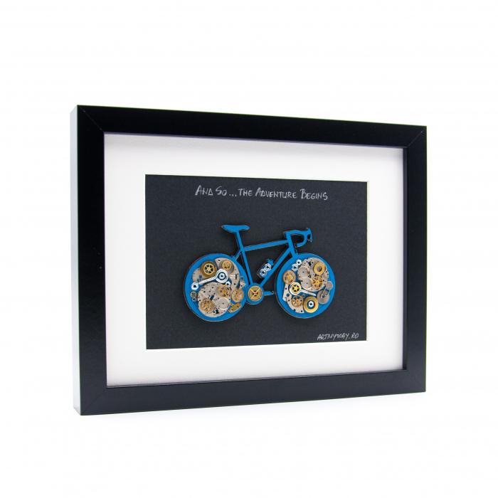 Tablou Bicicleta Albastra  - Colectia SteamWall 1