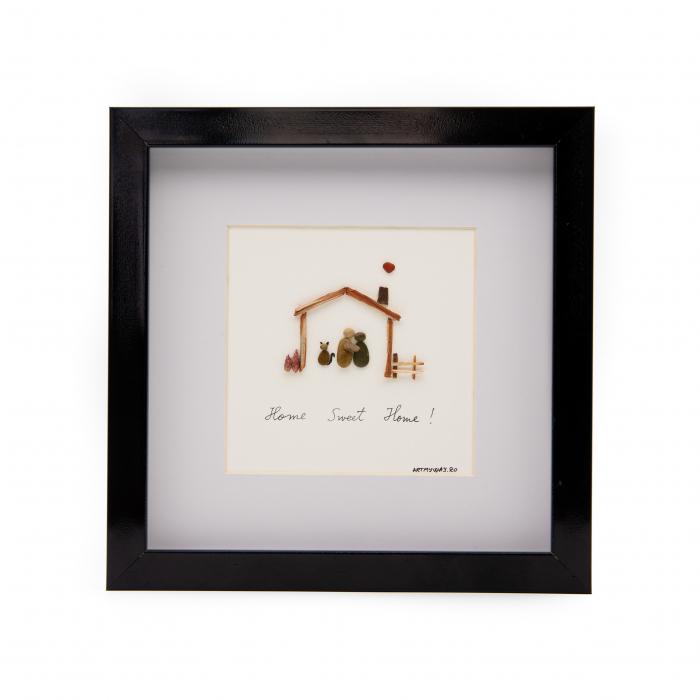 Tablou HOME SWEET HOME - Colectia Pebble Art 0