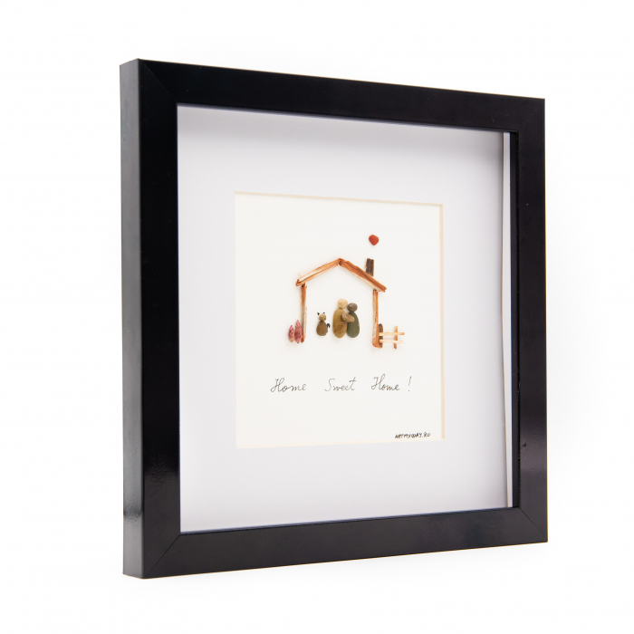 Tablou HOME SWEET HOME - Colectia Pebble Art 2