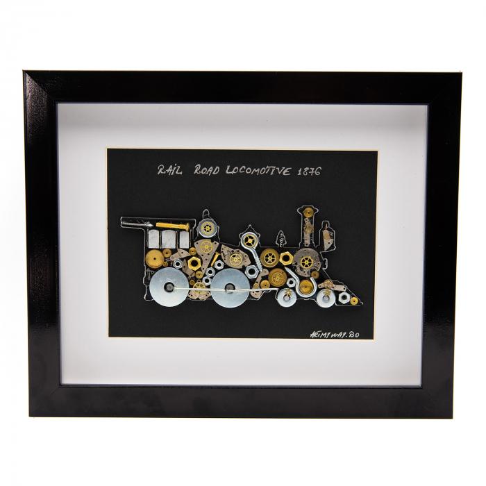 Tablou RAIL ROAD LOCOMOTIVE 1876 - Colectia SteamWall