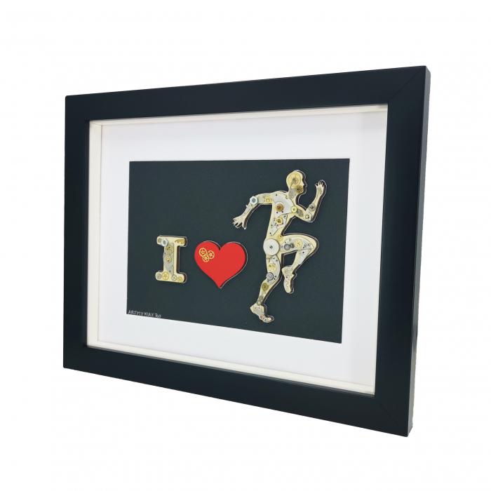 Tablou ' I LOVE RUNNING ' - Colectia BornToRide [1]