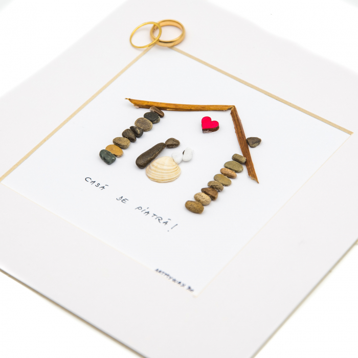 Tablou ' Marry me ' - Colectia Pebble Art 1