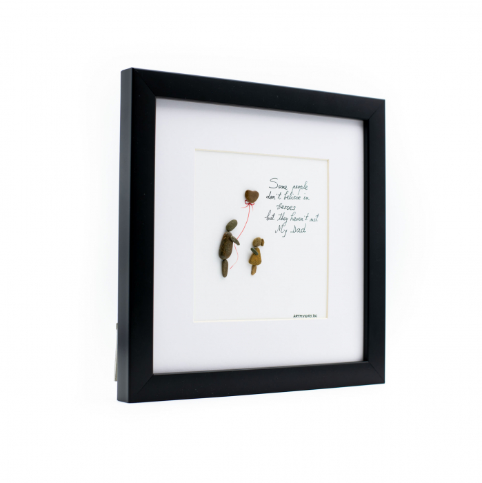 Tablou My Dad, My Hero - Colectia Pebble Art 1