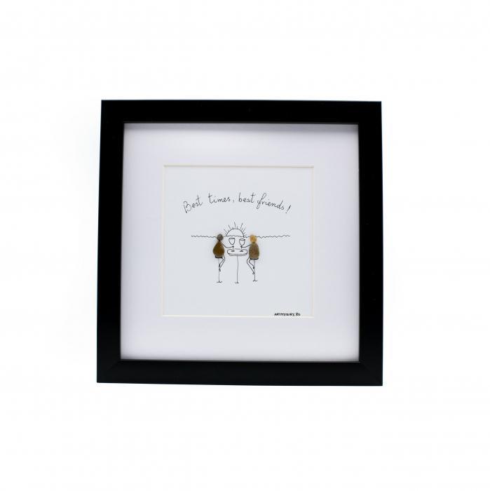 Tablou Best Friends  - Colectia Pebble Art 0