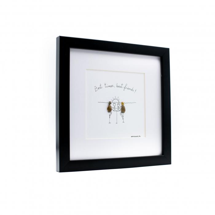 Tablou Best Friends  - Colectia Pebble Art 1