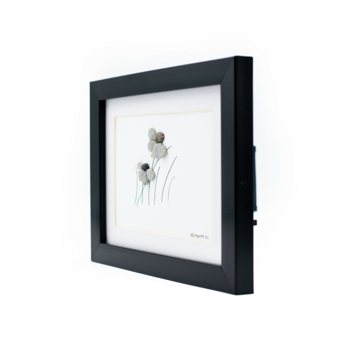 Tablou Windy Days Alb - Colectia Pebble Art - EDITIE LIMITATA 2