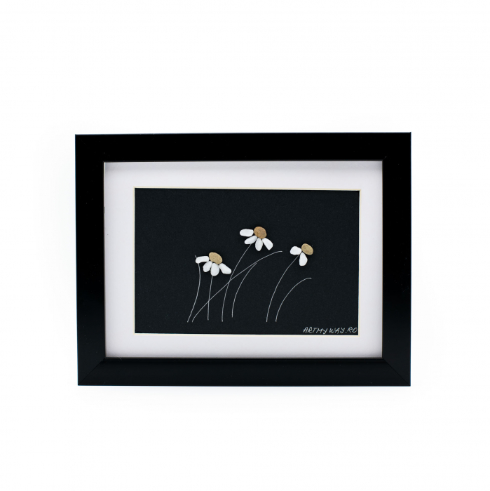 Tablou Windy Days - Negru - Colectia Pebble Art 0