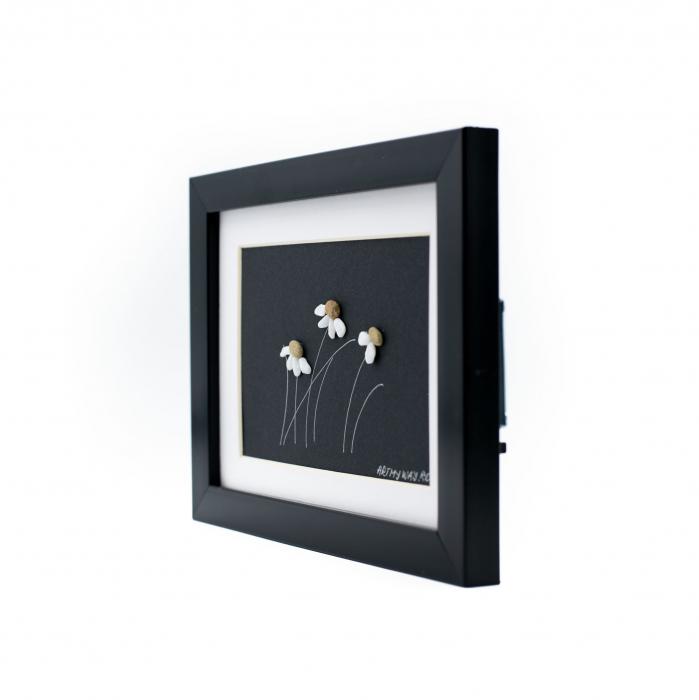 Tablou Windy Days - Negru - Colectia Pebble Art 2