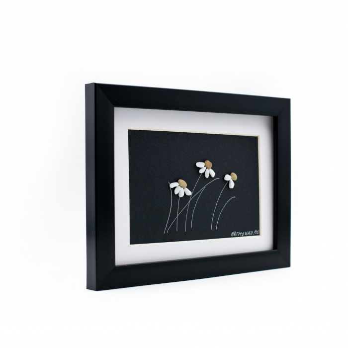 Tablou Windy Days - Negru - Colectia Pebble Art 1