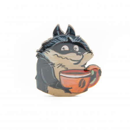 Brosa Lemn COFFEE ADDICT - Raccoon0