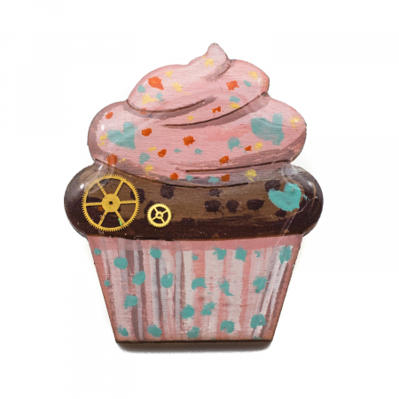 Brosa de LEMN Cupcake [0]