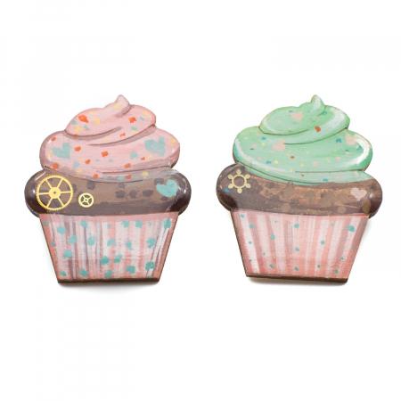 Brosa de LEMN Cupcake [1]