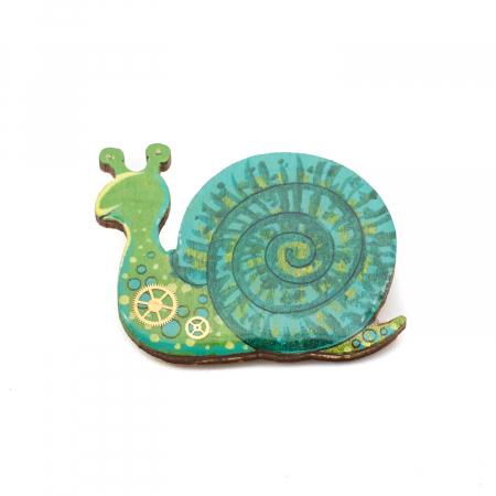 Brosa LEMN Green Snail0