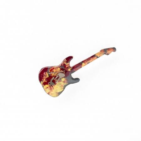 Brosa Lemn Chitara Multicolora