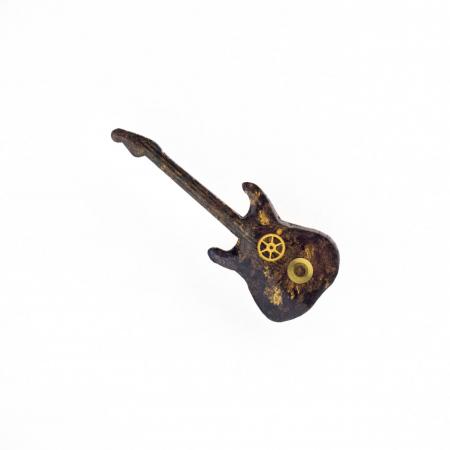 Brosa Lemn Chitara Negru Auriu0