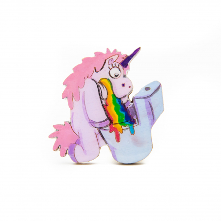 Brosa Lemn Unicorn - Sick of RAINBOW0