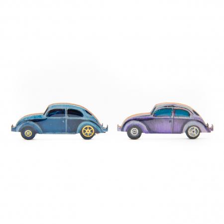 Brosa Lemn VW retro CAR - Albastra1