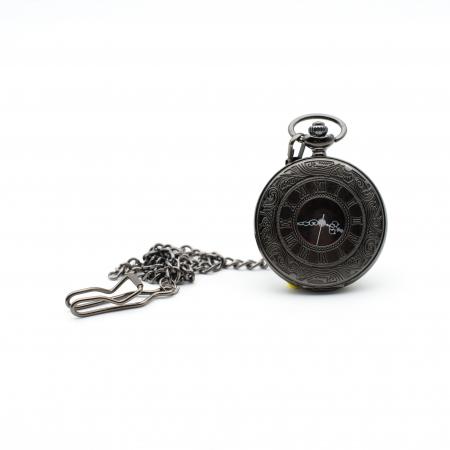 Ceas de Buzunar cu lant - Black - Colectia SteamWall0