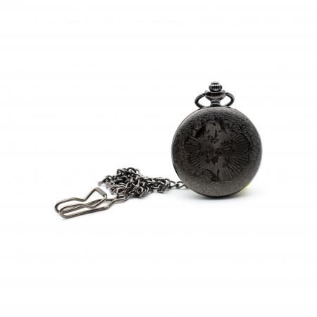 Ceas de Buzunar cu lant - Black - Colectia SteamWall2