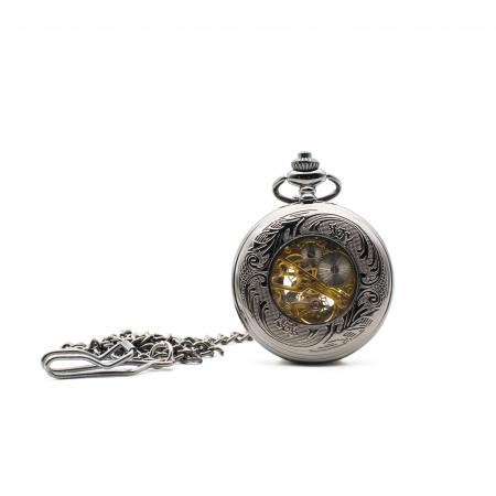 Ceas de Buzunar Mecanic - Colectia SteamWall1