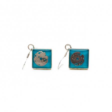 Cercei lungi Turquoise
