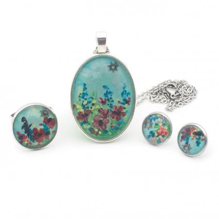Cercei surub Floricele Colorate1