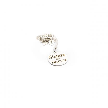 Colier SISTERS ARE FOREVER - Argint 925 placat cu aur10