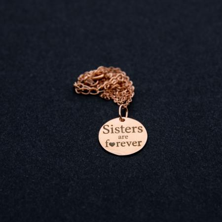 Colier SISTERS ARE FOREVER - Argint 925 placat cu aur9
