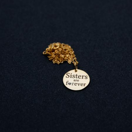 Colier SISTERS ARE FOREVER - Argint 925 placat cu aur8
