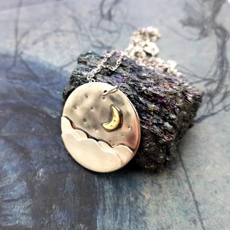 Colier CLOUDY MOON - Argint 9251
