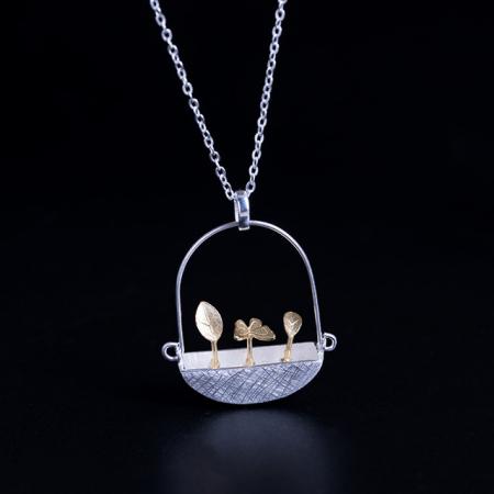 Colier Goldy's Basket -  Argint 925 placat Aur1