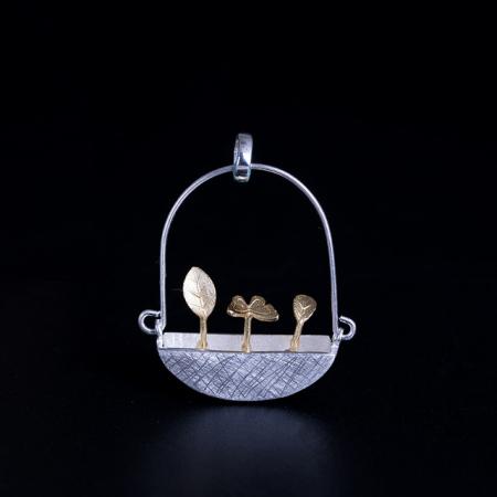Colier Goldy's Basket -  Argint 925 placat Aur3