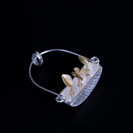 Colier Goldy's Basket -  Argint 925 placat Aur4