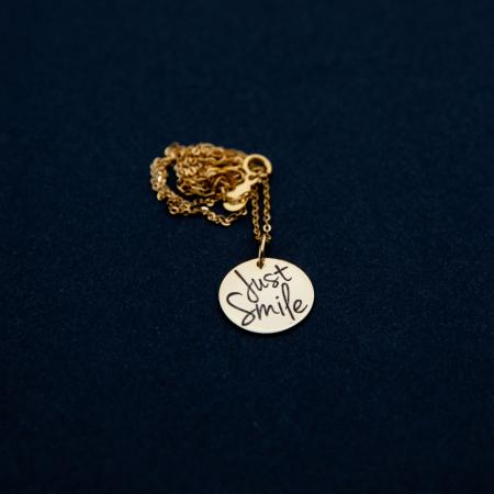 Colier JUST SMILE - Argint 925 placat cu aur [5]