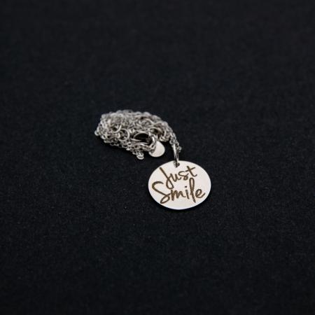 Colier JUST SMILE - Argint 925 placat cu aur0
