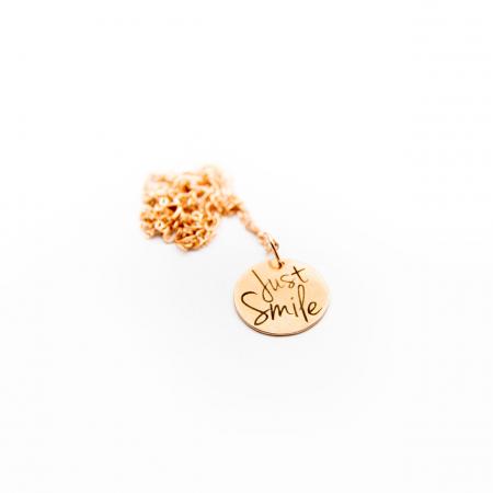 Colier JUST SMILE - Argint 925 placat cu aur [7]