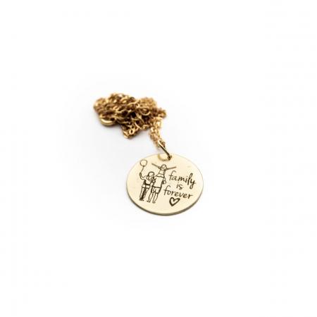 Colier FAMILY IS FOREVER - Argint 925 placat cu aur7