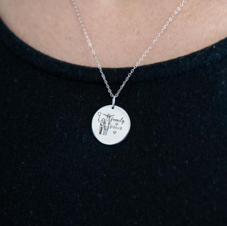 Colier FAMILY IS FOREVER - Argint 925 placat cu aur0