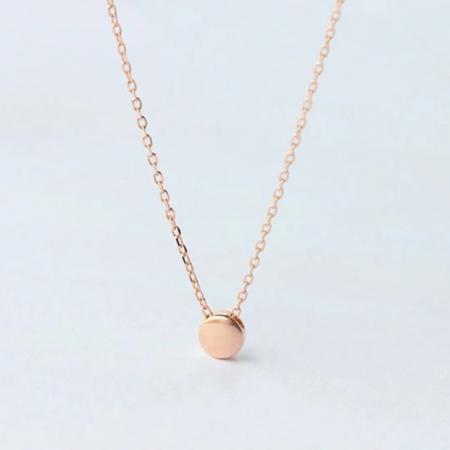 Colier MY HEART - Argint 925 placat cu Aur Roz5