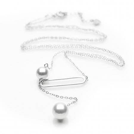 Colier Two Drops - Argint 9252